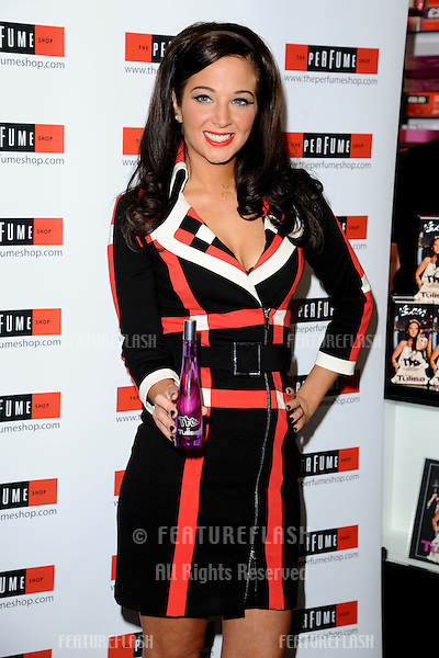 Tulisa Contostavlos signs copies of her new fragrance 'The Female Boss' at The Perfume Shop Oxfortd Street, London. 26/10/2011 Picture by: Steve Vas / Featureflash