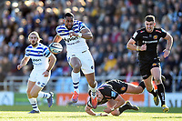 Joe Cokanasiga of Bath Rugby goes on the attack. Gallagher Premiership match, between Exeter Chiefs and Bath Rugby on March 24, 2019 at Sandy Park in Exeter, England. Photo by: Patrick Khachfe / Onside Images