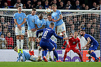 Ross Barkley scores Chelsea's second goal direct from a free-kick during Chelsea vs Malmo FF, UEFA Europa League Football at Stamford Bridge on 21st February 2019