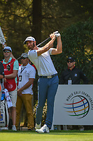 Dustin Johnson (USA) watches his tee shot on 12 during round 1 of the World Golf Championships, Mexico, Club De Golf Chapultepec, Mexico City, Mexico. 3/1/2018.<br /> Picture: Golffile | Ken Murray<br /> <br /> <br /> All photo usage must carry mandatory copyright credit (&copy; Golffile | Ken Murray)
