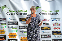 Masterton mayor Lyn Patterson. The opening ceremony of the NZ Cycle Classic UCI Oceania Tour at Mitre 10 Mega in Masterton, New Zealand on Tuesday, 16 January 2018. Photo: Dave Lintott / lintottphoto.co.nz