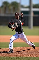 Miami Marlins pitcher James Buckelew (77) during a minor league spring training game against the New York Mets on March 30, 2015 at the Roger Dean Complex in Jupiter, Florida.  (Mike Janes/Four Seam Images)