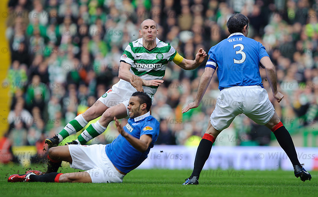 Kyle Bartley tackes Scott Brown in the first minute