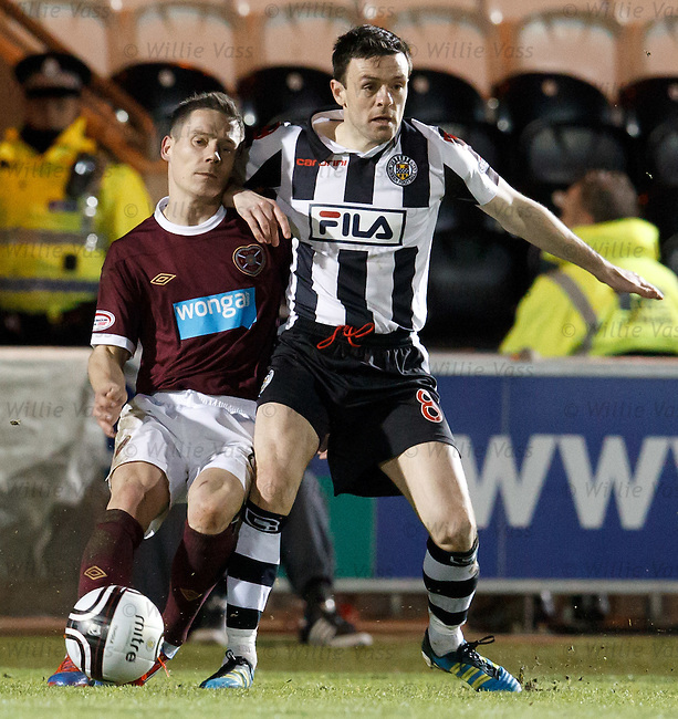 Ian Black gets an accidental elbow from Steven Thomson