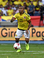 BARRANQUILLA – COLOMBIA - 23 – 03 -2017: Macnelly Torres, jugador de Colombia en accion, durante partido entre los seleccionados de Colombia y Bolivia, de la fecha 13 válido por la clasificación a la Copa Mundo FIFA Rusia 2018, jugado en el estadio Metropolitano Roberto Melendez en Barranquilla. / Macnelly Torres, player of Colombia in action, during match between the teams of Colombia and Bolivia, of the date 13 valid for the Qualifier to the FIFA World Cup Russia 2018, played at Metropolitan stadium Roberto Melendez in Barranquilla. Photo: VizzorImage / Luis Ramirez / Staff.
