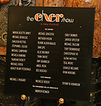 Lobby Cast Board for the Opening Night Premiere of 'The Cher Show' at the Oriental Theatre on June 28, 2018 in Chicago.