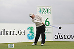 Damien McGrane teeing off on the 16th hole during day two of the 3 Irish Open..Pic Fran Caffrey/golffile.ie