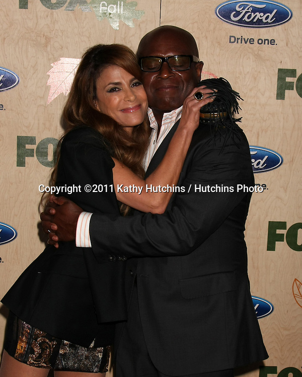 LOS ANGELES - SEP 12:  Paula Abdul, Antonio L.A. Reid arriving at the 7th Annual Fox Fall Eco-Casino Party at The Bookbindery on September 12, 2011 in Culver City, CA