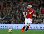 Luke Shaw of Manchester United starts the match during the English League Cup Quarter Final match at Old Trafford  Stadium, Manchester. Picture date: November 30th, 2016. Pic Simon Bellis/Sportimage