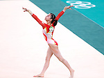 Aiko Sugihara (JPN), <br /> AUGUST 7, 2016 - Artistic Gymnastics : <br /> Women's Qualification <br /> Floor Exercise <br /> at Rio Olympic Arena <br /> during the Rio 2016 Olympic Games in Rio de Janeiro, Brazil. <br /> (Photo by Sho Tamura/AFLO SPORT)