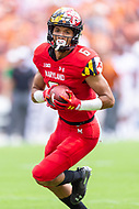 Landover, MD - September 1, 2018: Maryland Terrapins wide receiver Jeshaun Jones (6) breaks free for a 65 yard touchdown during game between Maryland and No. 23 ranked Texas at FedEx Field in Landover, MD. The Terrapins upset the Longhorns in back to back season openers with a 34-29 win. (Photo by Phillip Peters/Media Images International)