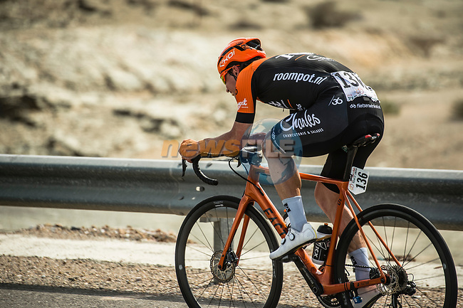 Stijn Steels (BEL) Roompot-Charles in action during Stage 4 of 10th Tour of Oman 2019, running 131km from Yiti (Al Sifah) to Oman Convention and Exhibition Centre, Oman. 19th February 2019.<br /> Picture: ASO/Kåre Dehlie Thorstad | Cyclefile<br /> All photos usage must carry mandatory copyright credit (© Cyclefile | ASO/Kåre Dehlie Thorstad)