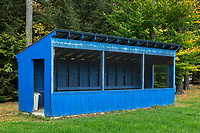 Little league baseball dugout.