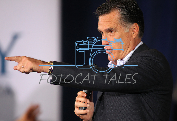 Republican presidential candidate Mitt Romney speaks at a campaign stop in Reno, Nev., on Thursday, Feb. 2, 2012..Photo by Cathleen Allison