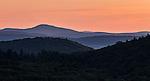 Mount Monadnock seen at dawn from New Salem, Massachusetts.