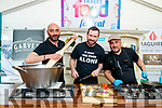 Massimiliano Bagaglini, Once Upon a Cheese, Chad Byrne, group development chef for the Gleneagle group, and Chef Gorka Arrieta Sol y Sombra Tapas Bar & Restaurant, Killorglin at the cooking demonstration at Tralee Food Fair on Sunday.
