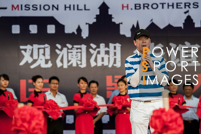 Movie Theme Town at the Mission Hills World Celebrity Pro-Am at the Haikou Mission Hills Resort on October 20, 2012, in China's province of Hainan. Celebrity participants include Oscar-winning actor Adrien Brody, Oscar-nominated actor Andy Garcia, Canadian film and television actor Ryan Reynolds, American actress Minka Kelly and Korea's top male movie star Jeong Woo-Seong. Photo by Xaume Olleros / The Power of Sport Images for Mission Hills