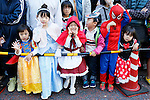 Participants in unique costume take part in a Halloween parade in Kawasaki, near Tokyo, on Sunday, October 25, 2015. (Photo AFLO)