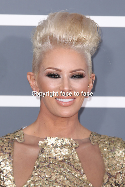 Jenna Jameson at the 55th Annual GRAMMY Awards at Staples Center in Los Angeles, California, 10.02.2013...Credit: MediaPunch/face to face..- Germany, Austria, Switzerland, Eastern Europe, Australia, UK, USA, Taiwan, Singapore, China, Malaysia and Thailand rights only -