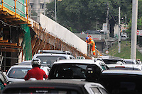 ATENÇÃO EDITOR: FOTO EMBARGADA PARA VEÍCULOS INTERNACIONAIS. - SAO PAULO)11 de dezembro 2012.( Obra do viaduto Presidente Juscelino Kubitschek FOTO: ADRIANO LIMA / BRAZIL PHOTO PRESS).