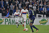 2nd November 2017, Nice, France; EUFA Europa League, Olympique Lyonnais versus Everton;  Maxwel Cornet (lyon) takes on Cuco Martina (everton)