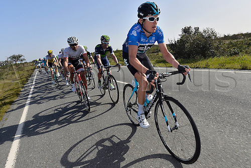 21.02.2016. Almodovor, Algarve, Portugal.  THOMAS Geraint (GBR)  of TEAM SKY in action during stage 5 of the 42nd Tour of Algarve cycling race with start in Almodovar and finish in Malhao (Loule) on February 21, 2016 in Malhao, Portugal.