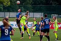 Kansas City, MO - Saturday June 17, 2017: Sydney Leroux, Lindsay Elston during a regular season National Women's Soccer League (NWSL) match between FC Kansas City and the Seattle Reign FC at Children's Mercy Victory Field.