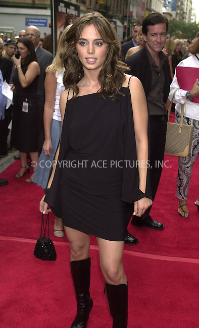 "ELIZA DUSHKU at the premiere of ""City by the Sea"" in New York. August 26, 2002. REF: PVUS2067. Please byline: Peter Vail/NY Photo Press.   ..*PAY-PER-USE*      ....NY Photo Press:  ..phone (646) 267-6913;   ..e-mail: info@nyphotopress.com"
