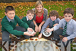 Presentation Monastery National School in Killarney is one of the only schools in the country to install a rainwater harvesting initiative to conserve water for the school. The project is part of the Green Flag initiative to encourage school children to be more environmentally friendly. .L-R Michael Poon, Evan Smith, Green School Co-ordinator Mary Brosnan, Niall McGuillicuddy and Jack Murphy