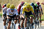 The peloton including Yellow Jersey Chris Froome (GBR) and Sergio Henao (COL) Team Sky in action during Stage 16 of the 104th edition of the Tour de France 2017, running 165km from Le Puy-en-Velay to Romans-sur-Isere, France. 18th July 2017.<br /> Picture: ASO/Alex Broadway | Cyclefile<br /> <br /> <br /> All photos usage must carry mandatory copyright credit (&copy; Cyclefile | ASO/Alex Broadway)
