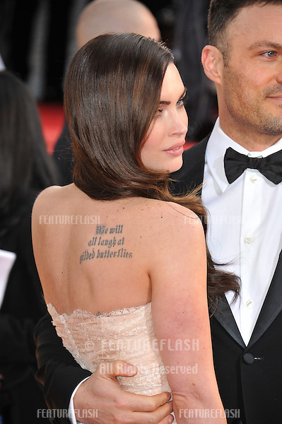 Megan Fox & Brian Austin at the 70th Golden Globe Awards at the Beverly Hilton Hotel..January 13, 2013  Beverly Hills, CA.Picture: Paul Smith / Featureflash
