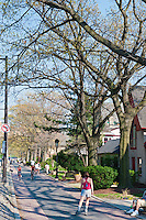 Boathouse Row, Bike, Pedestrian Path, Buildings,  Phila. PA