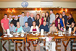 Pictured here at the 18th Birthday dinner of Lisa O'Connell (pictured front in white jacket) which was held in Leens Hotel Abbeyfeale on Saturday night were: Back Row L-R Andrew Murphy of Mountcollins, Gavin Dillon of Abbeyfeale, Billy Brodrick of Rockchapel, Alan Doody of Abbeyfeale, Bobby O'Connell of Abbeyfeale, Paddy Flavin of Newcastle West, Eileen O'Connell, Marie O'Connell both of Abbeyfeale, Bernadette Curtin of Tournafulla, Conor Roche of Templeglantine, Claire O'Sullivan of Athea, Lisa Lane of Abbeyfeale, Christopher Dalton of Athea and Paula Walsh of Abbeyfeale.  Front Row R-L Karen Mangan, Eileen Cotter both of Knocknagoshel, Bridget and Patrick Smith, Lisa O'Connell of Abbeyfeale, David O'Leary of Rockchapel, Margaret Flavin of Newcastle West and Robert O'Connell of Abbeyfeale.