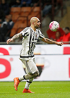 Calcio, Coppa Italia: semifinale di ritorno Inter vs Juventus. Milano, stadio San Siro, 2 marzo 2016. <br /> Juventus&rsquo;s Simone Zaza in action during the Italian Cup second leg semifinal football match between Inter and Juventus at Milan's San Siro stadium, 2 March 2016.<br /> UPDATE IMAGES PRESS/Isabella Bonotto