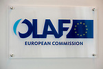 BRUSSELS - BELGIUM - 16 April 2019 -- The European Anti-Fraud Office (OLAF) logo - sign. -- PHOTO: Juha ROININEN / EUP-IMAGES