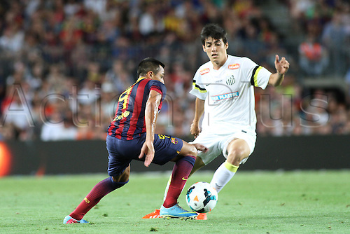02.08.2013 Barcelona, Friendly football competition Joan Gamper Trophee.  Alexis  in action during the friendly match in the nou Camp