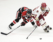 Kendall Coyne (Northeastern - 77), Blake Bolden (BC - 10) - The Northeastern University Huskies defeated the Boston College Eagles in a shootout on Monday, January 31, 2012, in the opening round of the 2012 Women's Beanpot at Walter Brown Arena in Boston, Massachusetts. The game is considered a 1-1 tie for NCAA purposes.