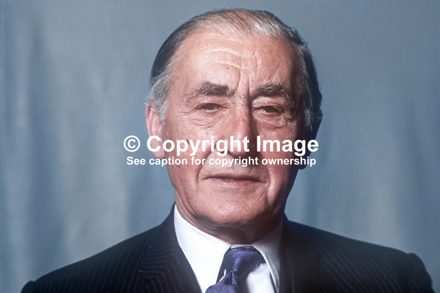 Hugh Wilson, surgeon, member, Alliance Party of N Ireland, sometime president of APNI, member of Larne Borough Council, N Ireland, UK, 197505000424a <br />