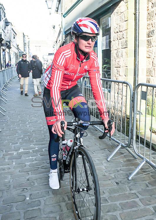 Picture by Simon Wilkinson/SWpix.com - 30/04/2016 - Cycling - 2016 Asda Women's Tour de Yorkshire: Otley to Doncaster - Yorkshire, England - Team Breeze's Hayley Jones.