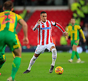 9th February 2019, bet365 Stadium, Stoke-on-Trent, England; EFL Championship football, Stoke City versus West Bromwich Albion; Thomas Ince of Stoke City runs with the ball