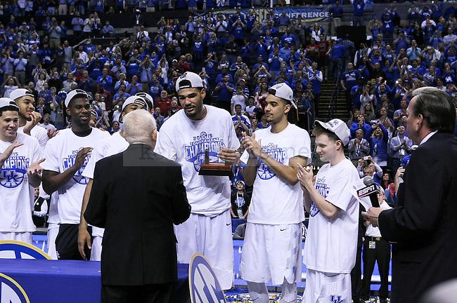after winning the SEC Championship against Arkansas in Nashville , Tenn., on Sunday, March 15, 2015. Photo by Jonathan Krueger | Staff