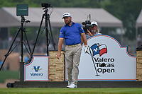 Graeme McDowell (NIR) watches his tee shot on 11 during day 3 of the Valero Texas Open, at the TPC San Antonio Oaks Course, San Antonio, Texas, USA. 4/6/2019.<br /> Picture: Golffile | Ken Murray<br /> <br /> <br /> All photo usage must carry mandatory copyright credit (&copy; Golffile | Ken Murray)