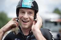 Ian Stannard's (GBR/Sky) happy post-race face<br /> <br /> Stage 18 (ITT) - Sallanches › Megève (17km)<br /> 103rd Tour de France 2016