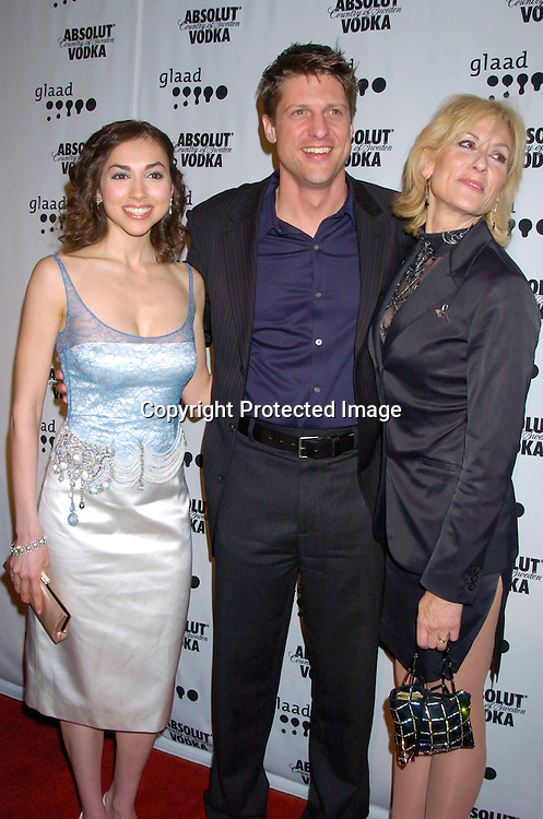 Eden Riegel, Christopher Sieber and Judith Light ..at the 15th Annual GLAAD Media Awards on April 12, 2004 ..at the Marriott Marquis Hotel. ..Photo by Robin Platzer, Twin Images