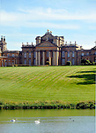 Blenheim Palace is a monumental stately home situated in Woodstock, Oxfordshire, England. It is the seat of the Dukes of Marlborough. The palace, one of England's largest houses, was built between 1705 and  1724