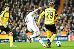 Real Madrid's Daniel Carvajal, Borussia Dortmund Marcel Shmeizer  during Champions League match between Real Madrid and Borussia Dortmund  at Santiago Bernabeu Stadium in Madrid , Spain. December 07, 2016. (ALTERPHOTOS/Rodrigo Jimenez)