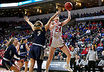 SIOUX FALLS, SD - MARCH 8: Ciara Duffy #24 of the South Dakota Coyotes takes the ball to the basket against the Oral Roberts Golden Eagles at the 2020 Summit League Basketball Championship in Sioux Falls, SD. (Photo by Dave EggenInertia)