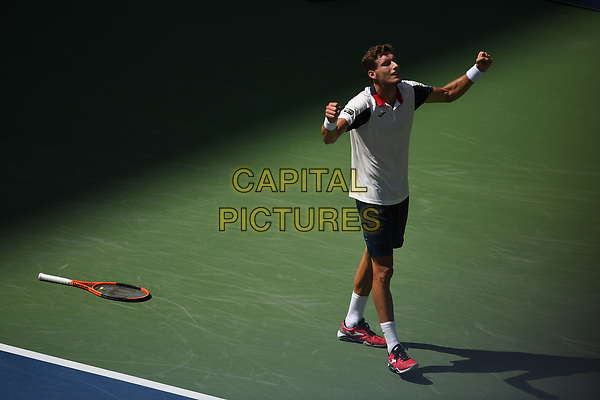 FLUSHING NY- SEPTEMBER 05: ***NO NY DAILIES***  Pablo Carreno Busta Vs Diego Schwartzman on Arthur Ashe Stadium during the US Open at the USTA Billie Jean King National Tennis Center on September 5, 2017 in Flushing Queens. <br /> CAP/MPI04<br /> &copy;MPI04/Capital Pictures