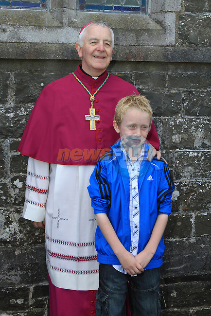 Jack McConnoran witht he bishop at confirmation in Togher Church..Picture Fran Caffrey/www.newsfile.ie