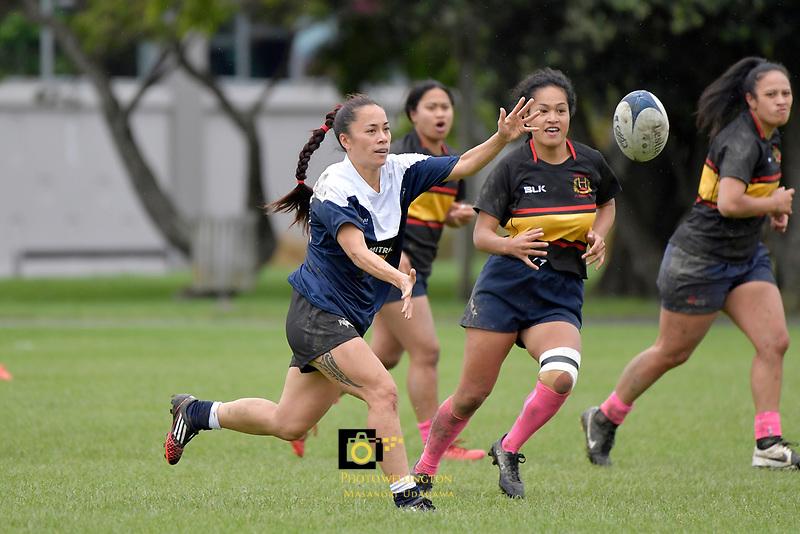 Women's Rugby - Petone v Paremata-Plimmerton at Petone Recreation Ground, Lower Hutt, New Zealand on Saturday 29 April 2017.<br /> Photo by Masanori Udagawa<br /> www.photowellington.photoshelter.com.